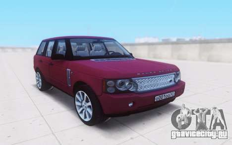 Land Rover Range Rover Vogue Supercharged 2007 для GTA San Andreas