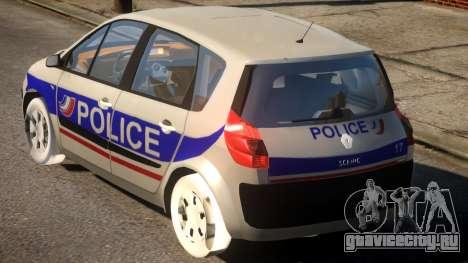 Renault Scenic II Police для GTA 4 вид сзади слева