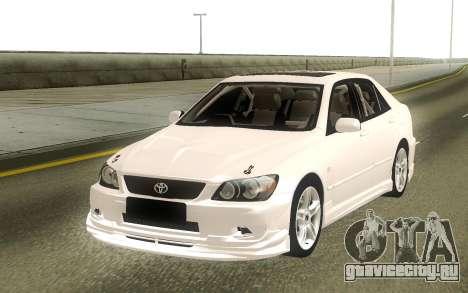 Toyota Altezza Stock для GTA San Andreas