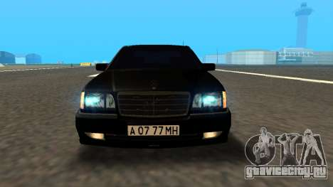 Mercedes-Benz S600 From Brigada для GTA San Andreas вид сзади слева