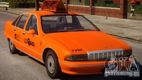 1991 Chevrolet Caprice Taxi v2 для GTA 4 вид изнутри