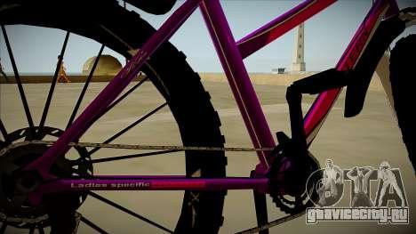 Велосипед Stern для GTA San Andreas вид изнутри