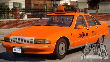 1991 Chevrolet Caprice Taxi v2 для GTA 4