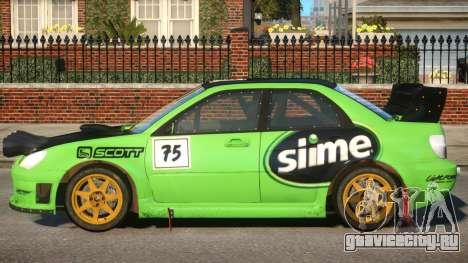 Subaru Impreza WRX V1.4 для GTA 4
