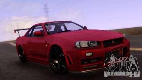 Nissan Skyline R34 with carbon spoiler для GTA San Andreas