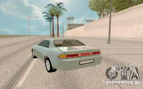 Toyota Mark II JZX90 Stock для GTA San Andreas вид сзади слева