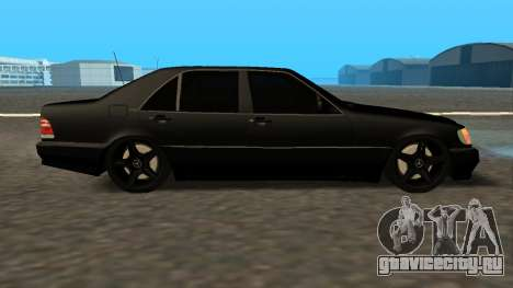 Mercedes-Benz S600 From Brigada для GTA San Andreas вид сзади