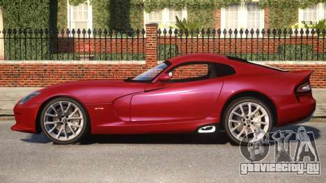 2013 SRT Viper GTS Coupe для GTA 4