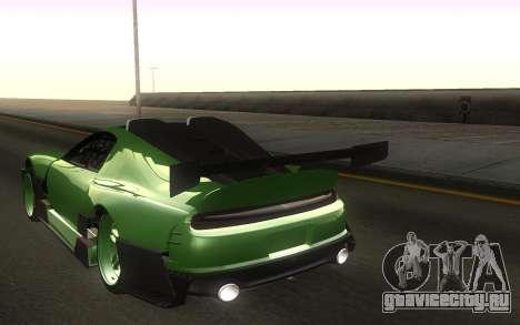 Toyota Supra Tuning для GTA San Andreas вид сзади слева