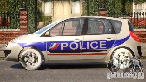 Renault Scenic II Police для GTA 4 вид слева