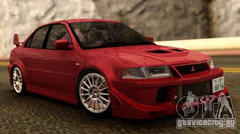 Mitsubishi Lancer Evolution VI Red RHD для GTA San Andreas