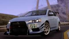 Mitsubishi Lancer Evolution X with Black Spoiler для GTA San Andreas