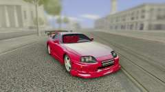 Toyota Supra Tuning Red with Spoiler для GTA San Andreas