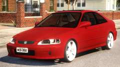 Honda Civic Coupe Red для GTA 4
