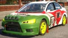 Mitsubishi Lancer EVOX PJ4 для GTA 4
