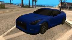 Nissan GT-R 35 Blue Tinted для GTA San Andreas