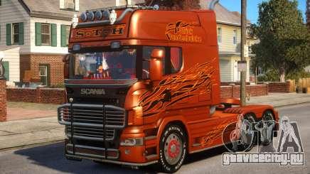 Scania R580 Longline Custom PJ12 для GTA 4
