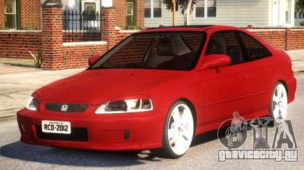 Honda Civic Coupe Red для GTA 4