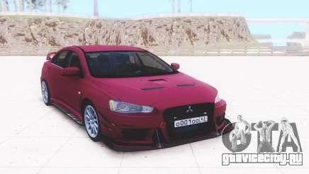 Mitsubishi Lancer Evolution X Sedan для GTA San Andreas