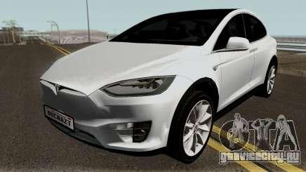 Tesla Model X White для GTA San Andreas