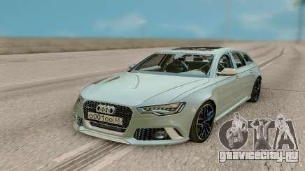 Audi RS6 Avant 2018 RUS PLATES для GTA San Andreas