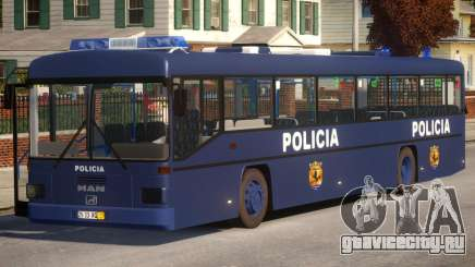 N1 Europe Police Bus Mod MAN 202 для GTA 4