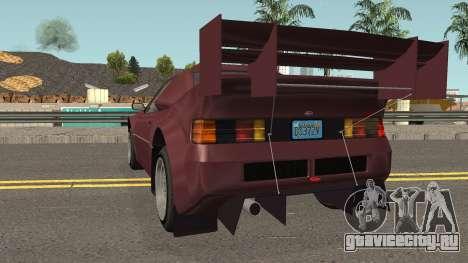 Vapid GB200 GTA V IVF для GTA San Andreas вид сзади слева