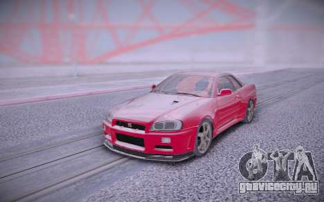Nissan Skyline Red для GTA San Andreas