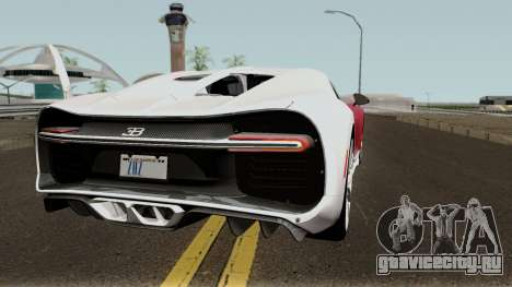 Bugatti Chiron для GTA San Andreas вид справа