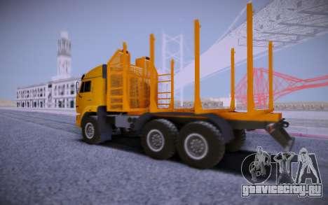 КАМАЗ 6460 Лесовоз для GTA San Andreas вид справа