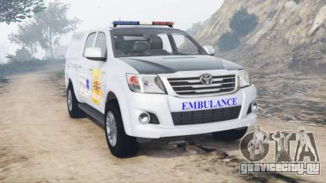 Toyota Hilux Double Cab 2012 Thai Ambulance для GTA 5