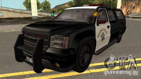 Declasse Granger SAHP Police GTA V для GTA San Andreas