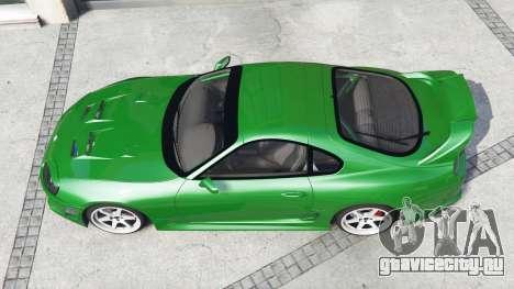 Toyota Supra Turbo (JZA80) [add-on] для GTA 5 вид сзади