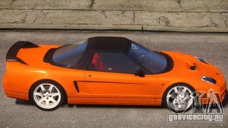 2005 Honda NSX-R V2 для GTA 4 вид сзади