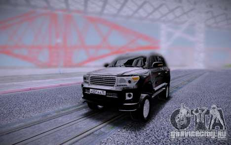 Toyota Land Cruiser 200 Black Edition для GTA San Andreas