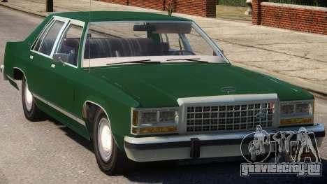1983 Ford Crown Victoria для GTA 4 вид изнутри