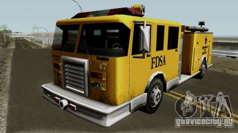 Firetruck Paintable in the Two of the Colours для GTA San Andreas