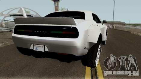 Dodge Challenger SRT Hellcat Rocket Bunny 2015 для GTA San Andreas вид справа