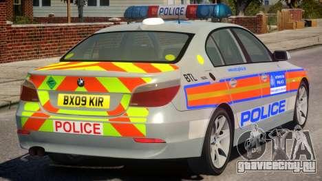 BMW 525D E60 Met Police для GTA 4