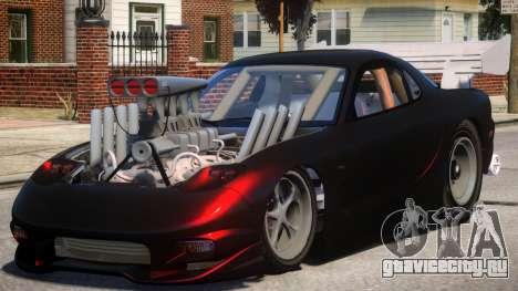 Mazda RX7 Dragster V1.2 для GTA 4