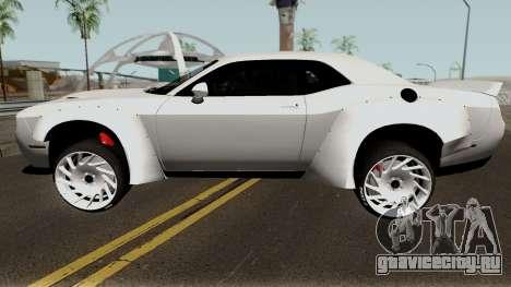 Dodge Challenger SRT Hellcat Rocket Bunny 2015 для GTA San Andreas вид слева