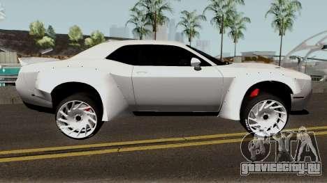 Dodge Challenger SRT Hellcat Rocket Bunny 2015 для GTA San Andreas вид сзади