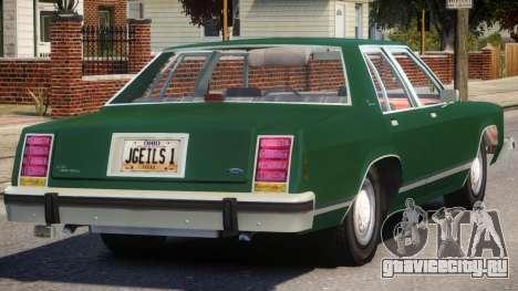 1983 Ford Crown Victoria для GTA 4 вид справа