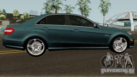 Mercedes-Benz W212 E63 AMG для GTA San Andreas вид сзади