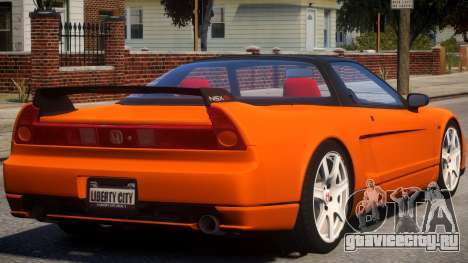 2005 Honda NSX-R V2 для GTA 4 вид справа