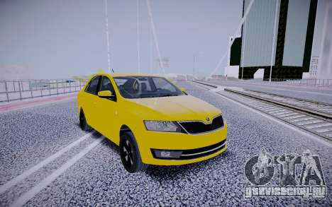 Skoda Rapid Yellow для GTA San Andreas