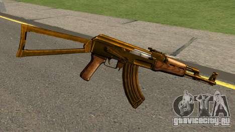 AK47 Gold для GTA San Andreas