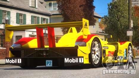 Porsche RS Spyder PJ2 для GTA 4 вид справа