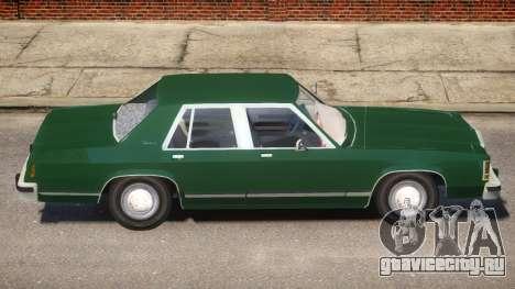 1983 Ford Crown Victoria для GTA 4 вид сзади