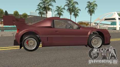 Vapid GB200 GTA V IVF для GTA San Andreas вид сзади